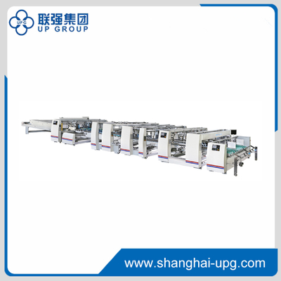 High Speed Full Automatic Folder Gluer Machine LQJX Series LQJX1200 / LQJX1450 / LQJX1700 / LQJX2100 / LQJX2300 / LQJX2800
